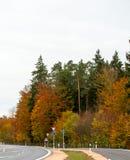 Sceniczny widok wiejska droga Obrazy Royalty Free