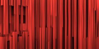 Scenisk bakgrund med sammansättning av röda metalliska rör royaltyfri illustrationer