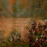 scenisk bakgrundshand som målas Royaltyfria Foton