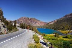 Scenisk bergvägYosemite nationalpark, Kalifornien royaltyfria bilder