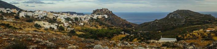 Scenisk cityscape, Kythira, Grekland Royaltyfri Fotografi