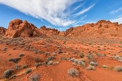 Scenisk dal av brand Nevada Arkivbilder