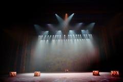 Scenisk etapp med gardinen Royaltyfri Foto
