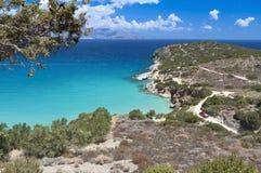 Scenisk fjärd på den Crete ön i Grekland Arkivbilder