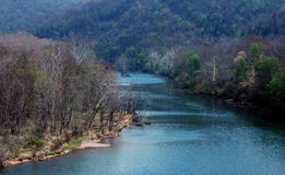 scenisk flod Arkivbild