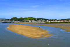 Scenisk flod Conwy i norr Wales Arkivfoton