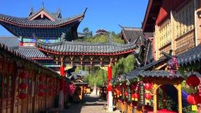 Scenisk gata i den gamla staden av Lijiang, Yunnan landskap, Kina fotografering för bildbyråer