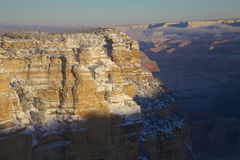 Scenisk grand Canyonvintersoluppgång Royaltyfria Foton
