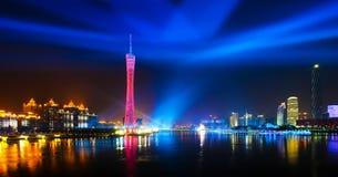 scenisk guangzhou natt Royaltyfri Foto