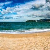 Scenisk härlig sikt av den Nha Trang stranden royaltyfri fotografi