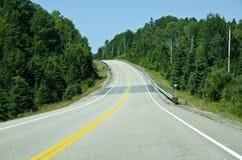 scenisk huvudväg Royaltyfri Fotografi