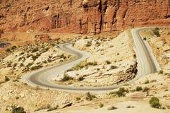 scenisk huvudväg Arkivbilder