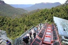 Scenisk järnväg New South Wales Australien Katoomba för scenisk värld Royaltyfria Bilder