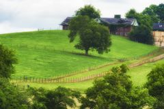 Scenisk landskapsikt längs Tennessee River Royaltyfria Foton