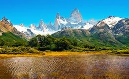 Scenisk liggande i Patagonia, South America Fotografering för Bildbyråer