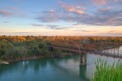 scenisk liggandeflod Royaltyfri Foto