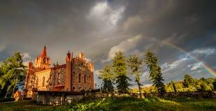 scenisk litauisk natur i nedgångsäsong arkivfoton