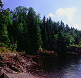 Scenisk liten vikstudie på Lake Superior - Minnesota Royaltyfri Foto