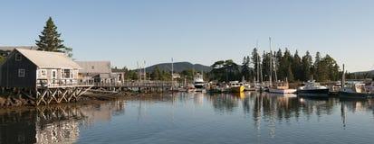 Scenisk Maine hamn arkivbilder