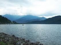 Scenisk Meihua sjö på Yilan, Taiwan Fotografering för Bildbyråer