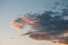 Scenisk molnig himmel fotografering för bildbyråer