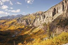 Scenisk near Telluride, Uncompahgre nationalskog, Colorado Royaltyfri Bild