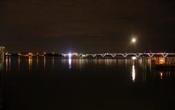 Scenisk Potomac River natt Royaltyfria Bilder