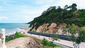 Scenisk punkt för Nang Phaya kulle på Chanthaburi i Thailand Royaltyfri Fotografi