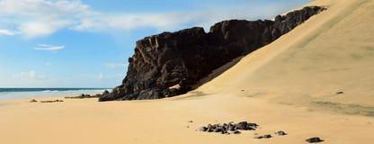 Scenisk sandig strand Fotografering för Bildbyråer