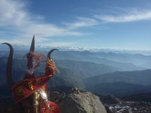 Scenisk sikt av berg Arkivfoto