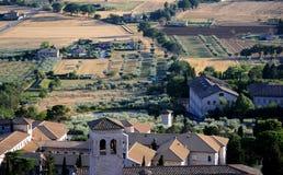 Scenisk sikt av den Assisi staden fotografering för bildbyråer