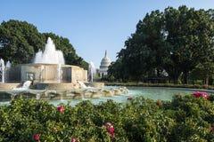 Scenisk sikt av den Capitol Hill Washington DC Arkivbild