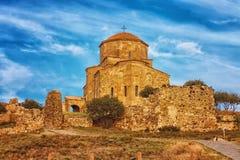 Scenisk sikt av den Jvari kloster i Mtskheta, Georgia Fotografering för Bildbyråer