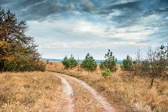 Scenisk sikt av den Kharkov öknen i Ukraina Royaltyfri Bild