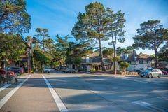 Scenisk sikt av den Stillahavs- huvudvägen 1 för Kalifornien kustlinje Royaltyfri Foto