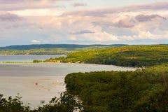 Scenisk sikt av Lake Michigan Royaltyfria Bilder