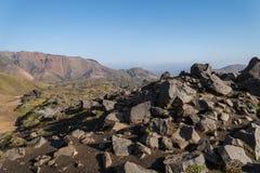 Scenisk sikt av landskapet i Landmannalaugar, Island Fotografering för Bildbyråer