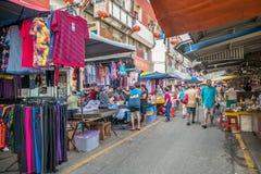 Scenisk sikt av morgonmarknaden i Ampang, Malaysia Royaltyfri Bild