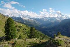 Scenisk sikt av schweiziska Alps Royaltyfri Foto