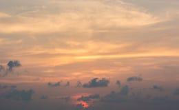 Scenisk sikt av solnedgången Royaltyfri Foto
