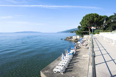 Scenisk sikt för Adriatic hav Arkivbilder