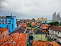 Scenisk sikt för detalj av färgrika hus i Italien Royaltyfria Foton