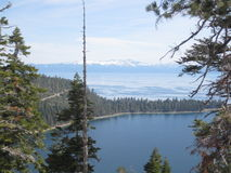 Scenisk sikt från Lake Tahoe Arkivfoton