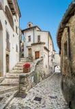 Scenisk sikt i Barrea, landskap av L ` Aquila, Abruzzo Italien Royaltyfria Bilder