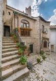 Scenisk sikt i Barrea, landskap av L ` Aquila, Abruzzo Italien Royaltyfri Foto