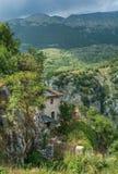 Scenisk sikt i Barrea, landskap av L ` Aquila, Abruzzo Italien Arkivfoton