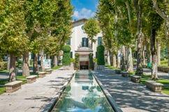Scenisk sikt i Caramanico Terme, comune i landskapet av Pescara i den Abruzzo regionen av Italien Royaltyfri Bild
