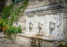 Scenisk sikt i Caramanico Terme, comune i landskapet av Pescara i den Abruzzo regionen av Italien Arkivfoton