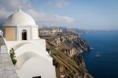 Scenisk sikt i Santorini, Grekland Royaltyfria Bilder