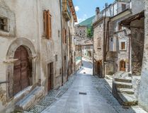 Scenisk sikt i Scanno, landskap av L ` Aquila, Abruzzo, centrala Italien Fotografering för Bildbyråer